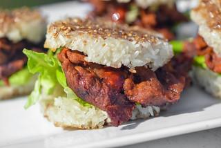 Spicy Bulgogi Rice Burgers