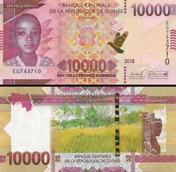 Guinea 10000 (10,000) Francs p-new 2108 / 2019