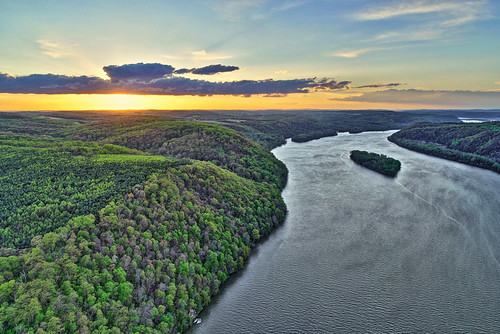 susquehanna river york county pennsylvania lancaster aerial drone sunset