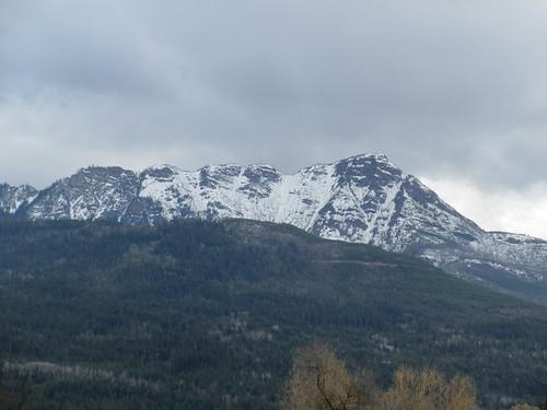 mt mount ida snow salmon arm bc british columbia canada