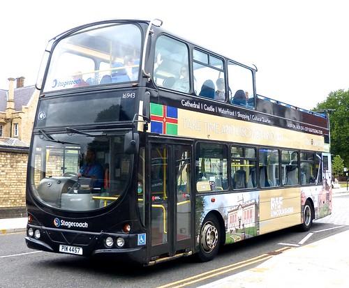 PIW 4457 'Stagecoach Lincolnshire' No. 16943 'CITY SIGHTSEEING TOUR'. Volvo B7TL / Wright Eclipse Gemini /1 on Dennis Basford's railsroadsrunways.blogspot.co.uk'
