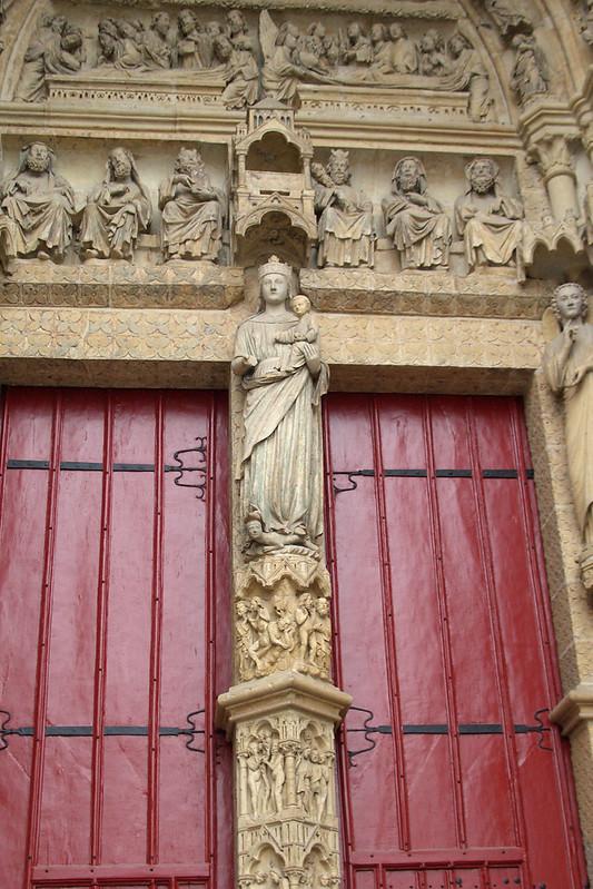 Портал Золотой Мадонны, Амьенский собор, Франция
