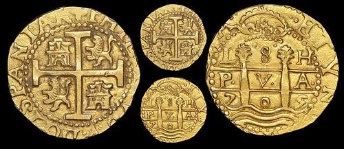 1747V Lima, Peru, cob 8 escudos