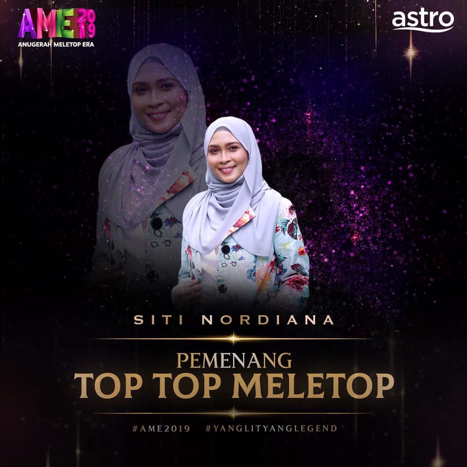 Khai Bahar &Amp; Siti Nordiana Ungguli Takhta Kategori Top Top Meletop Lelaki &Amp; Wanita Di Ame 2019
