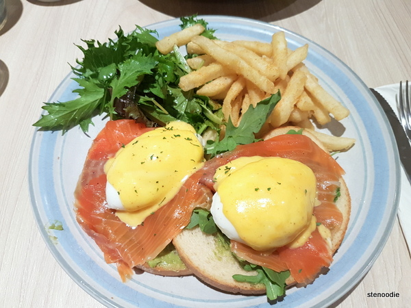 Smoked Salmon Eggs Benny at A Corner Cafe