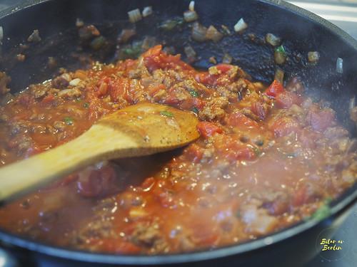 Vegansk spaghetti med färssås 6