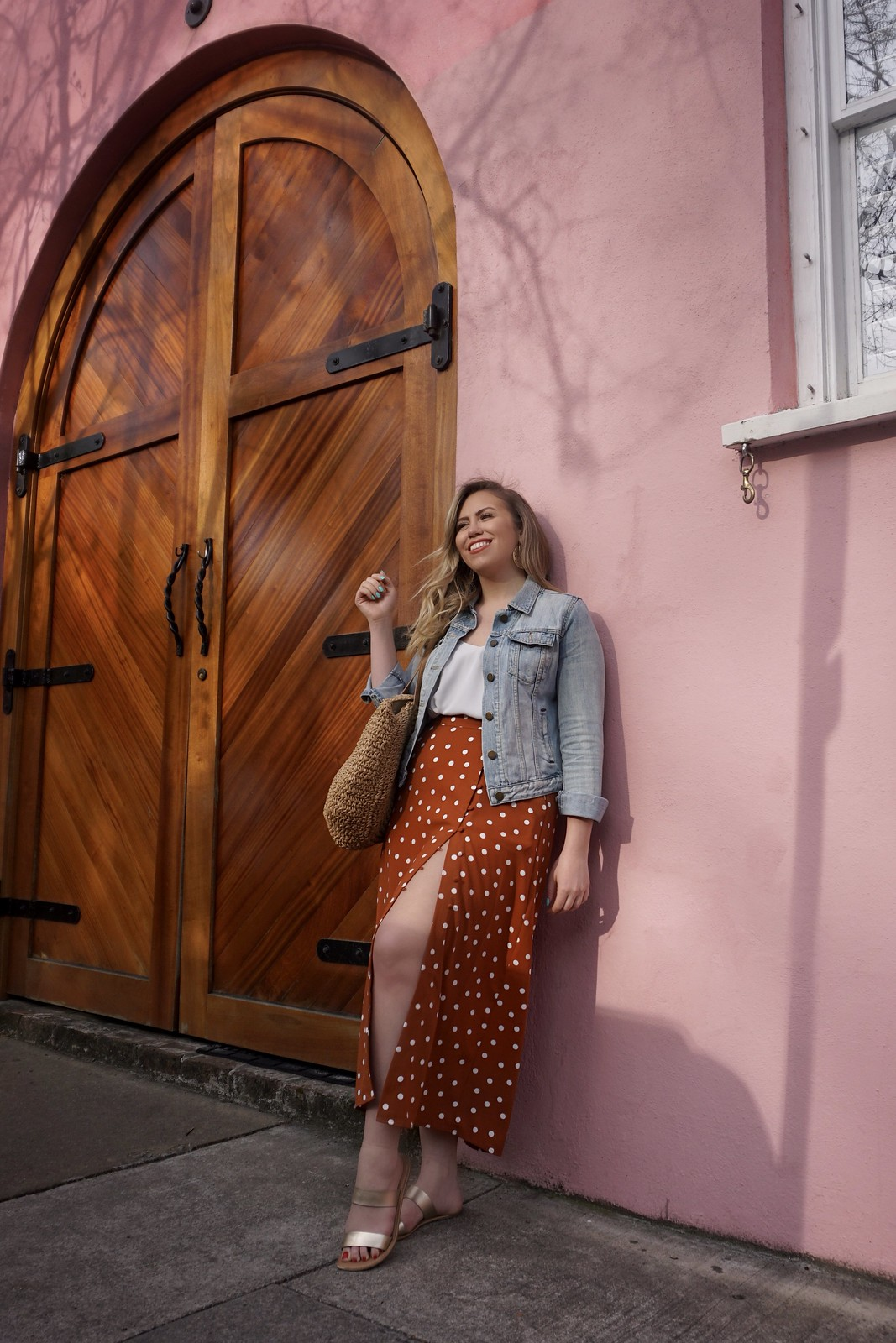 A New Day Target Rust Polka Dot Skirt | What to Wear in Charleston in the Spring | Charleston Packing List | Spring in Charleston | Best Outfits to Wear in Charleston | What I Packed for Charleston
