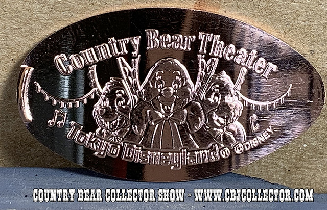 2019 Tokyo Disneyland Sun Bonnets Pressed Medallion - Country Bear Collector Show #201