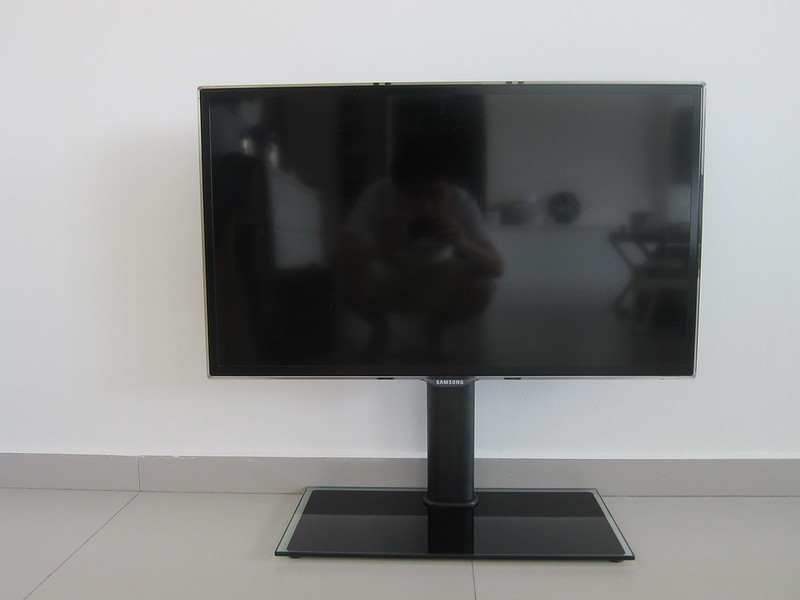 Universal TV Tabletop Stand - With TV - Front