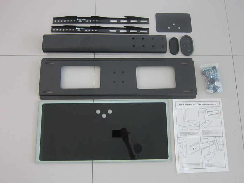 Universal TV Tabletop Stand - Box Contents