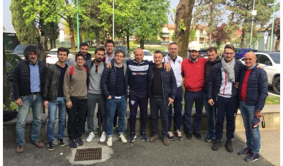 Gli allenatori della Virtus in visita al Brescia di Corini