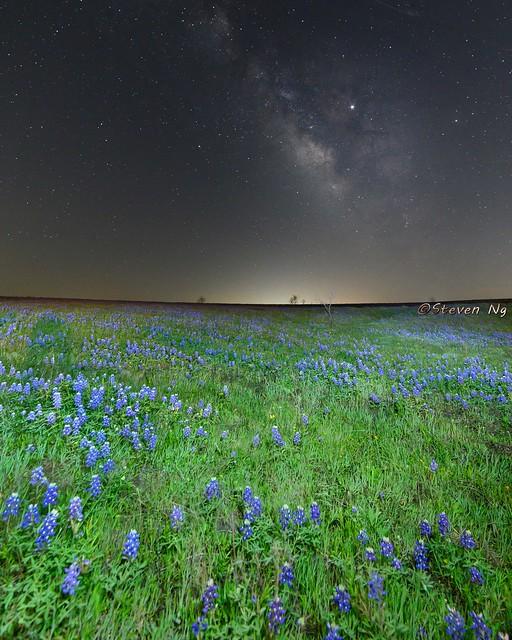 Milky Way over Texas Field of Dreams
