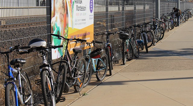 Williams Landing station - bike parking