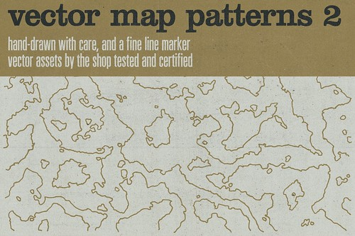 Hand-drawn vector maps volume 2
