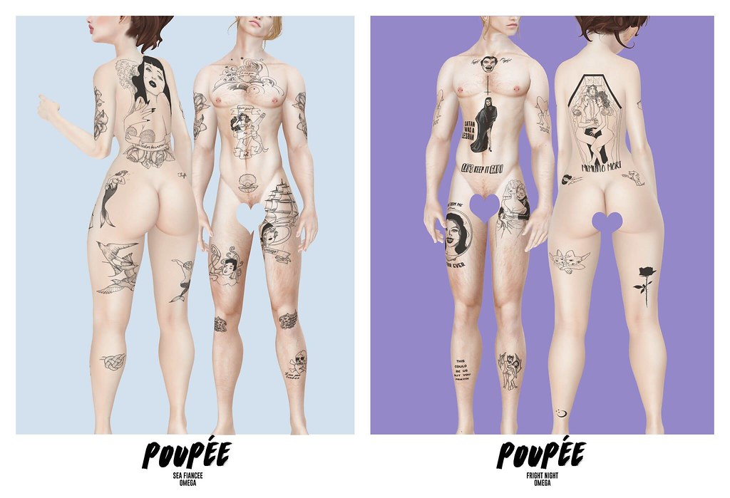 Poupee – Sea Fiancee & Fright night Tattoos