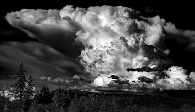 Powerful Black & White Thunderheads