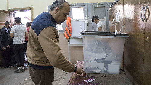 Egyptian voter in the Constitutional amendments referendum | by Kodak Agfa