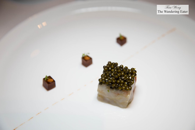 Wild langoustine tartare, Hua Hin sturgeon caviar, consommé jelly, lemon zest