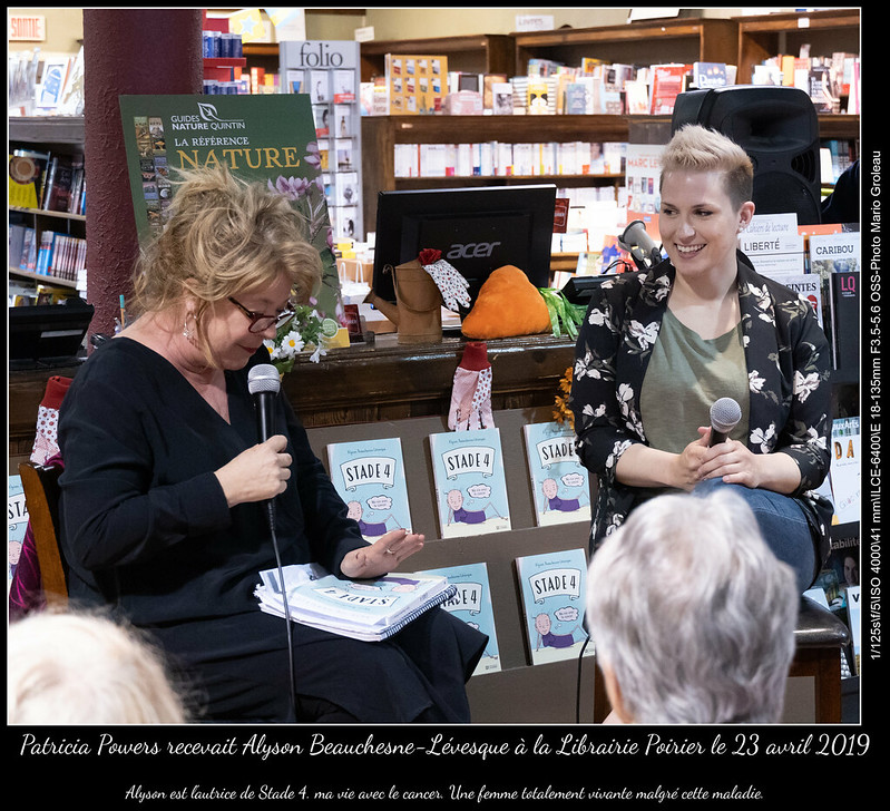 Patricia Powers recevait Alyson Beauchesne-Lévesque à la Librairie Poirier le 23 avril 2019