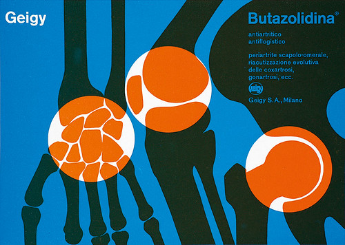 Advertisement for Butazolidina for arthritis, 1957.