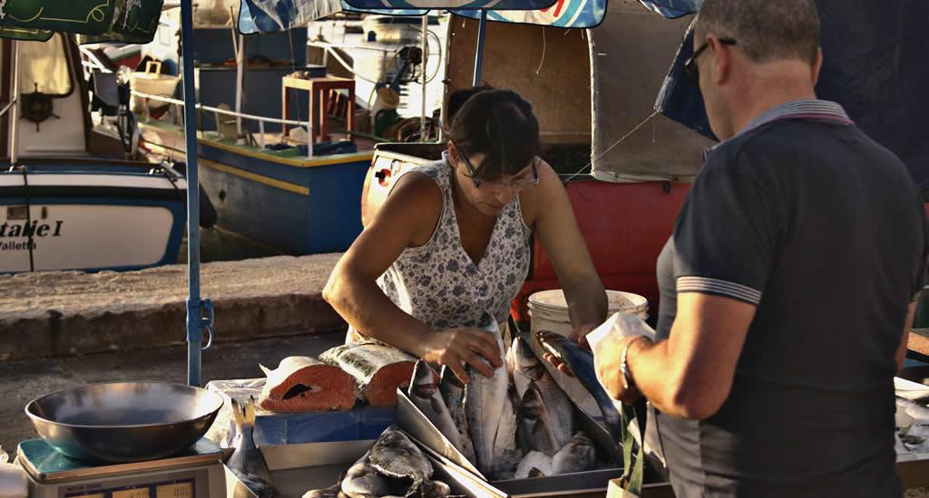 De markt van Marsaxlokk, Malta