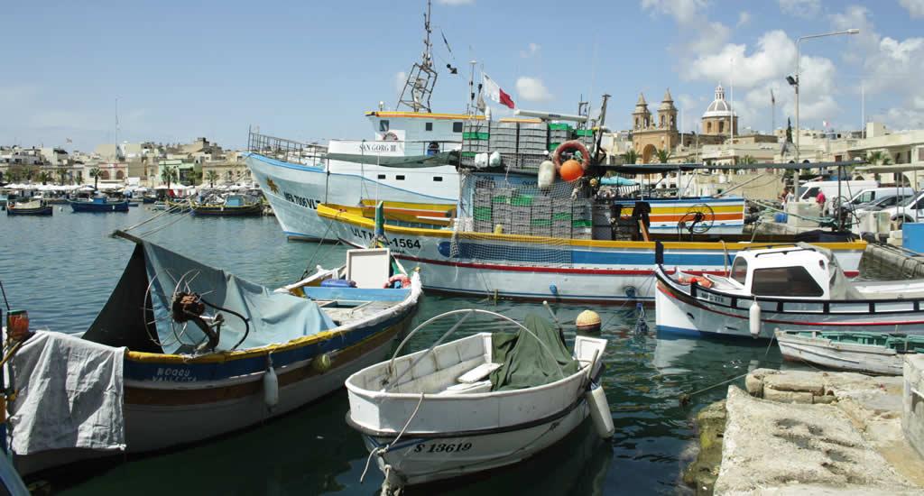 Tips over Marsaxlokk Malta