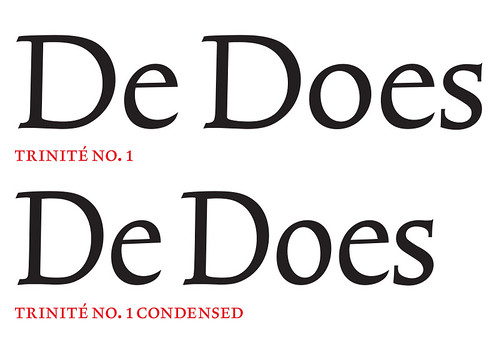 The conception of Trinité as a whole family came from the depth of De Does's experience as a typographic designer.