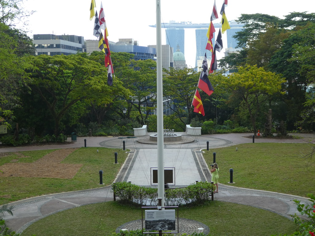 The flagstaff in Fort Canning Park, Singapore