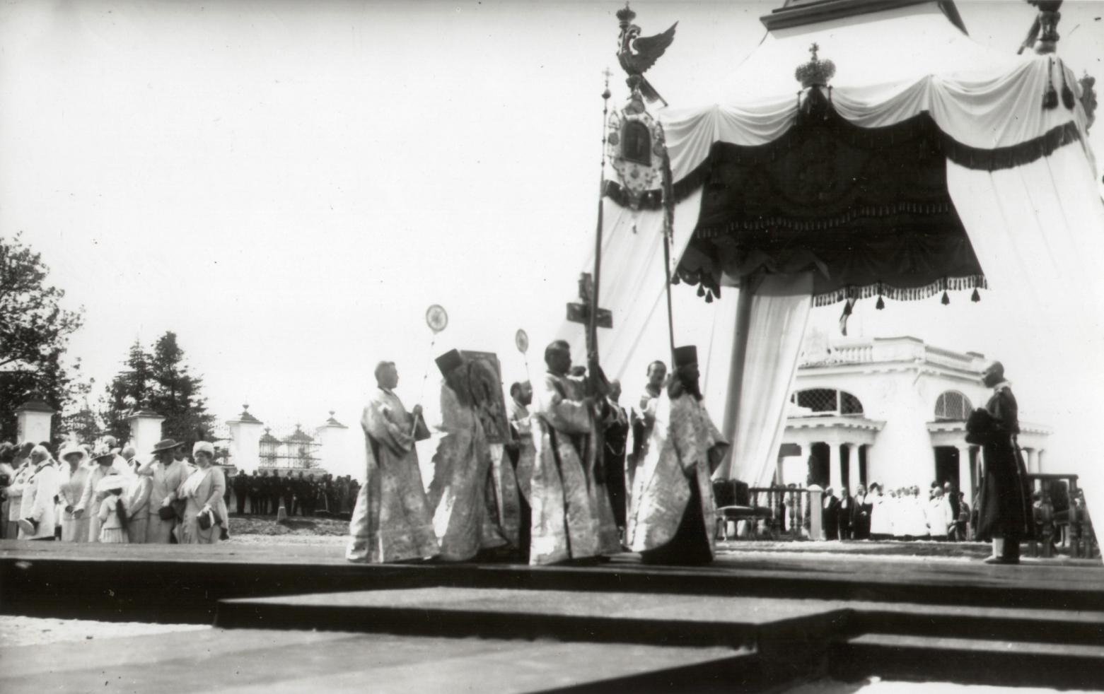 Закладка памятника в честь 300-летия дома Романовых