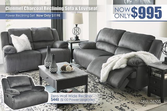 Clonmel Charcoal_Reclining Sofa & Loveseat_36505-47-MOOD-C