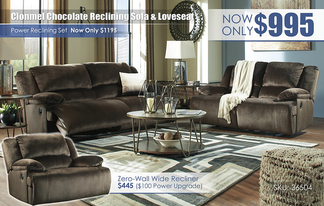 Clonmel Chocolate Reclining Sofa & Loveseat_36504-81-86-T395-PILLOW