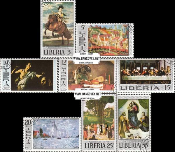 Známky Libéria 1969 Slávne maľby, razítkovaná séria