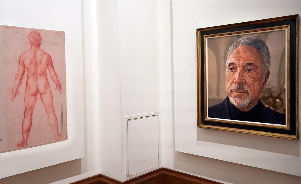 Duncan Shoosmith's portrait of Tom Jones in the National M