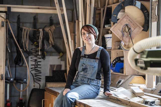 Michaela Lewry, Scenic Carpentry Apprentice © 2019 ROH. Photograph by Sim Canetty-Clarke