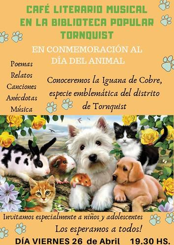cafe literario-dia del animal