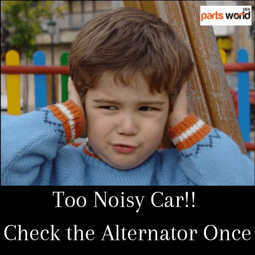 Too noisy vehilcle check alternator once