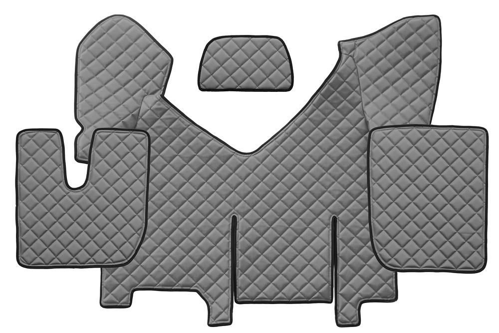 Iveco Stralis 2013 Automatik Passform Fußmatten Kunstleder Grau Hi-Way