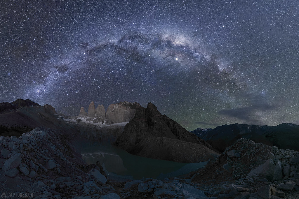 The three towers under the milkyway - Torres del Paine