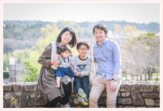 愛・地球博記念公園でファミリーフォト 愛知県長久手市