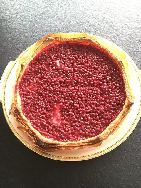 Gateau aux raisinets (redcurrant pie)