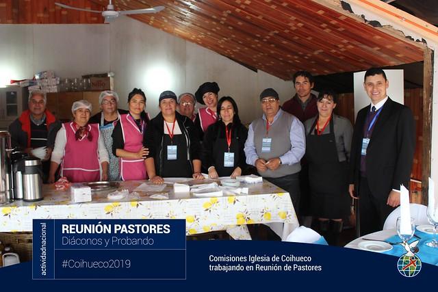 Trabajo de Comisiones Iglesia de Coihueco en Reunión de pastores Diáconos y Probando Sector 13 al 23