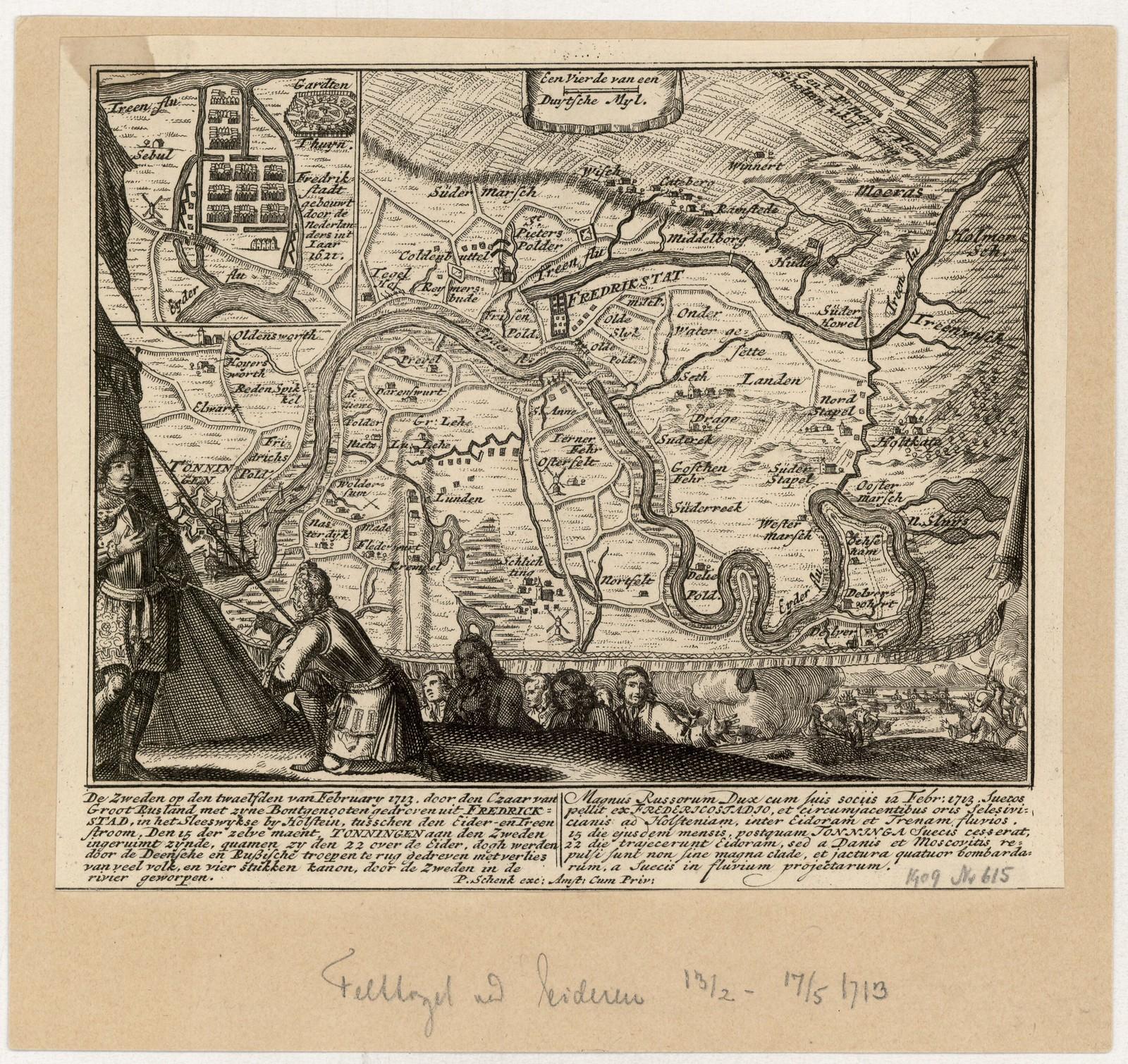 1713. Баталия при Фридрихштадте. 12 февраля
