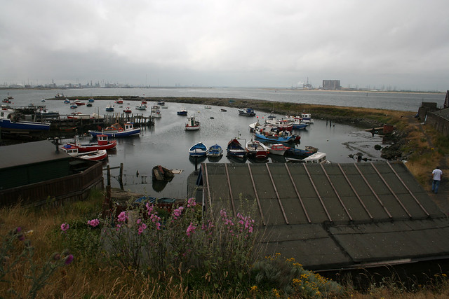 Harbour at the mouth of the Tees near Redcar