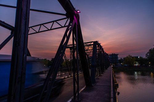 mueangchiangmai chiangmai thailand morning dawn sunrise bridge
