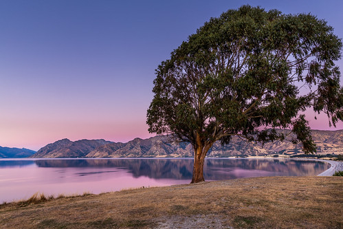 lake lakehawea landscape longexposure nz newzealand otago sunset