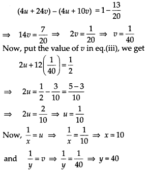 NCERT Exemplar Class 10 Maths Chapter 3 Pair of Linear Equations in Two Variables 3.4 Q6a