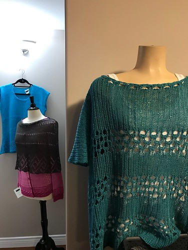I will have the trunk show samples (and patterns) in the shop for a few weeks so do check them all out for summer knitting inspiration!