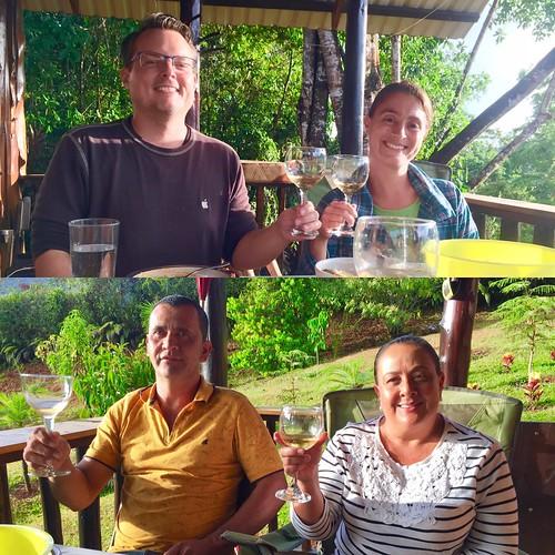 the four tasters- Neil, Maria, Berny & Nela