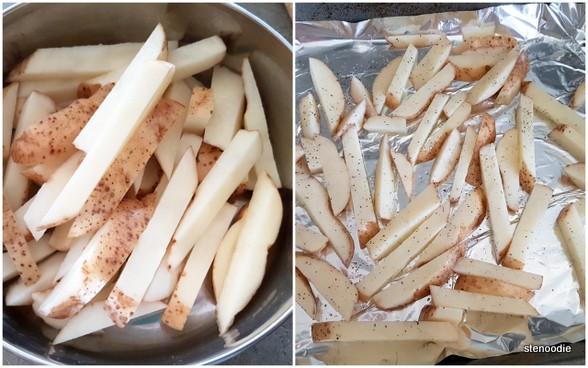 making potato fries at home