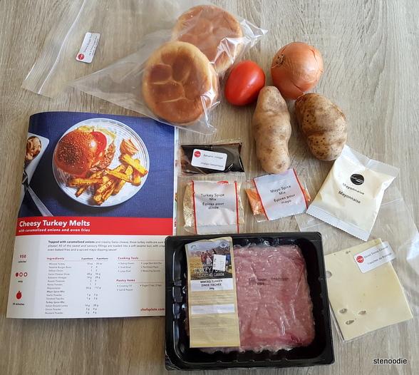 Cheesy Turkey Melts ingredients